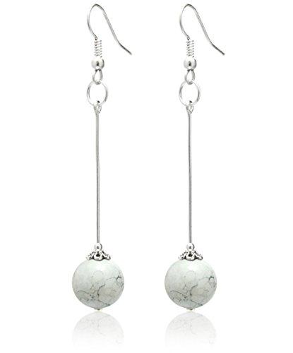 2livefor handmade ohrringe perlen weiss silber 925. Black Bedroom Furniture Sets. Home Design Ideas