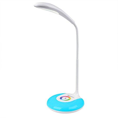 LEDスタンドライト Idealeben タッチセンサデスクライト テーブルランプ 3段調光 カラフルライト ホワイト