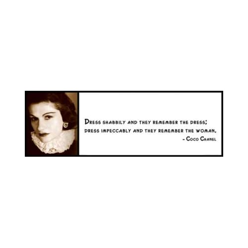 Amazon.com: Wall Quote - Coco Chanel - Dress Shabbily and