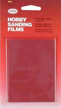 Sandpaper, Carded, 5 Grits/Pkg