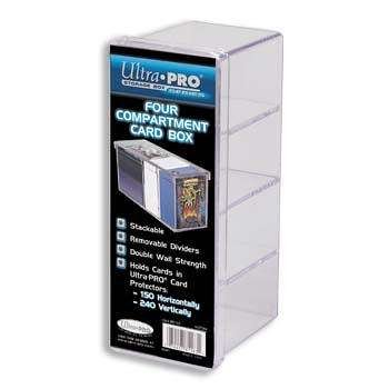 Ultra PRO All Team 2-Piece Storage Box, 4 Compartment, Clear