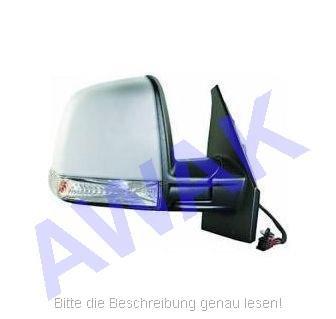 Fiat Doblo II 10- Aussenspiegel (rechts=Beifahrerseite) el.betätigt, beheizbar, Gehäuse-grundiert, mit Blinker und Temperaturfühler, single Glas-convex [E] [H] [P] [CV] [LMP] [S] [R]