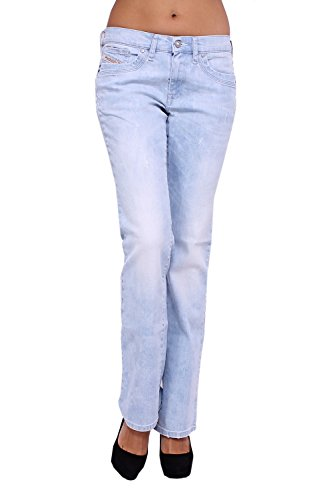 DIESEL - Jeans Donna RONHOIR 8W6 - Regular - Bootcut - Stretch - blu, W28 / L34