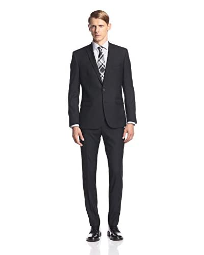 Ben Sherman Men's Two Button Tonal Stripe Suit