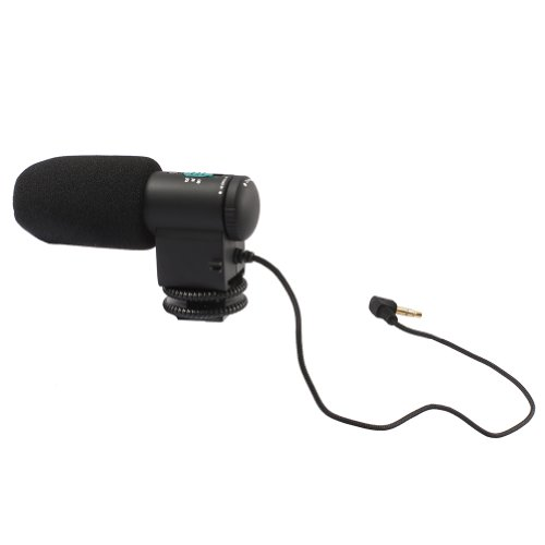 Neewer® Mini Directional Stereo Microphone For Nikon D800 /E D600 D3200 D5200 D7000 D7100, Canon T5I T4I T3I T2I 700D 600D 550D 70D 60D 6D 5D And All Other Cameras With Universal Hotshoe