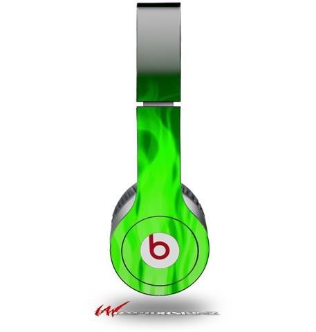 Wraptorskinz Fire Skin For Beats Solo Hd Headphones, Green