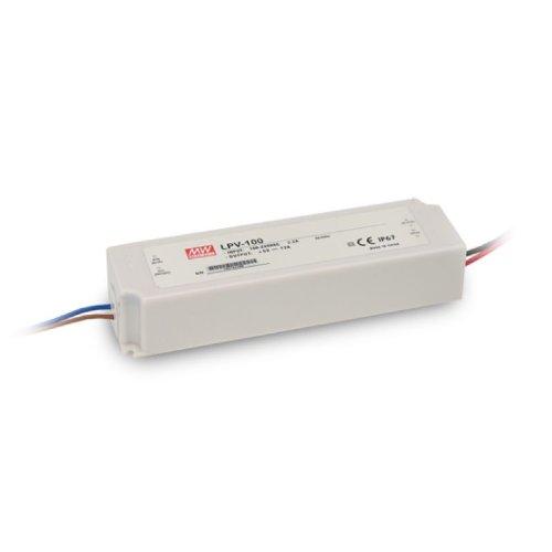 Isolicht LED Trafo MW LPV 12V/DC, 0-100W, IP67