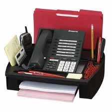 Compucessory CCS55200 11-1/2 x 9-1/2 x 5 Inches Telephone Stand/Organizer, Black