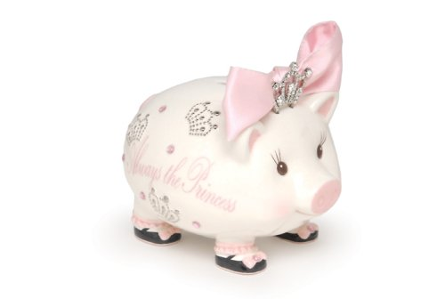 Mud Pie Baby Jeweled Tiara Bank (Discontinued by Manufacturer)