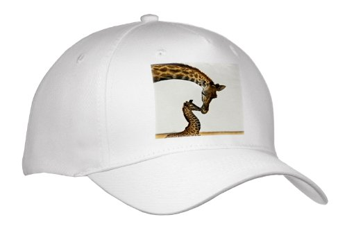 Jackie Popp Nature N Wildlife Animals - Giraffe Mama And Baby - Caps - Adult Baseball Cap front-1025840