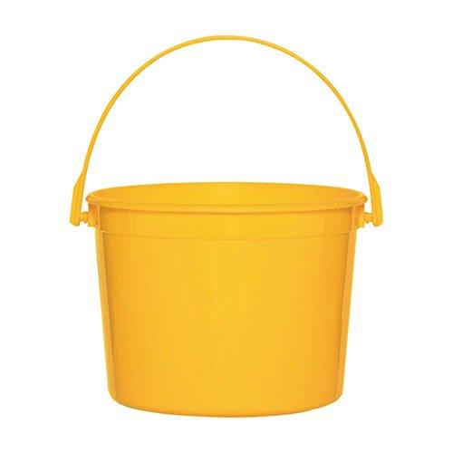 Sunshine Yellow Plastic Bucket with Handle - 1
