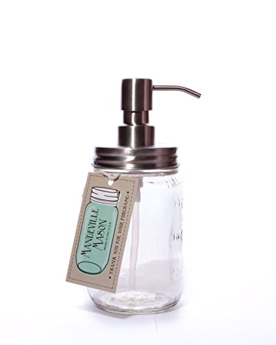 Stainless Steel Mason Jar Soap Dispenser - Made in USA (Usa Soap Dish compare prices)