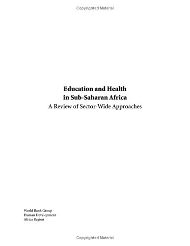 Education and Health in Sub-Saharan Africa: A Review of Sector-Wide Approaches (Africa Region Human Developments)