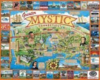 Cheap White Mountain Mystic Connecticut 1000 Piece Jigsaw Puzzle White Mountain (B0013C6Y4A)