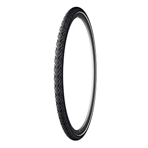 Michelin City Tire with Protek Plus and Reflective Sidewalls (Black, 700x28c)