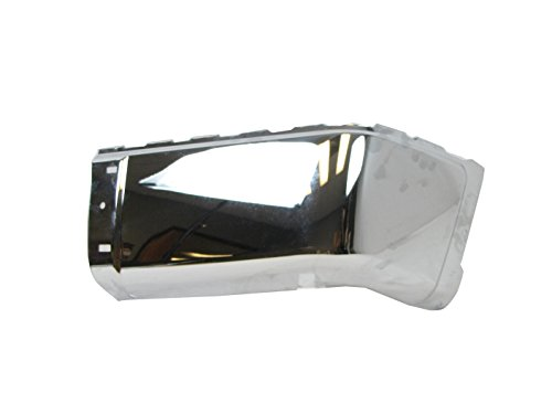 REAR BUMPER CAP CHROME (STEEL) WITHOUT SENSOR HOLE RH GM1105149 (08 Silverado Chrome Bumper Cap compare prices)