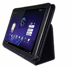Black PU Leather Case / Cover with Stand for Motorola Xoom Android Tablet