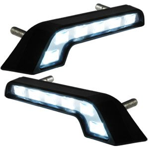 2x lampe blanc 6 led feux de jour pour voiture benz diurne lumiere eclairage drl. Black Bedroom Furniture Sets. Home Design Ideas