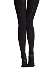 Hi Heel™ 60 Denier Back Seam Tights MADE WITH SWAROVSKI® ELEMENTS