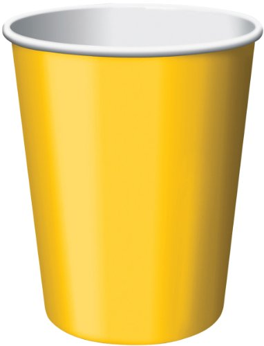 Paper Hot & Cold Cups 9 Ounces 8/Pkg-Yellow