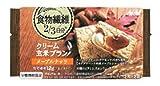 アサヒフードアンドヘルスケア バランスアップ クリーム玄米ブラン 食物繊維 メープルナッツ 2枚X2袋
