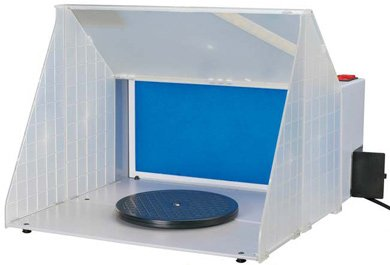 "Hobby Spray Booth: 16.5""W x 13.5 H x 19"" D"