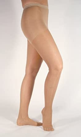 Ames Walker 15, 15-20 Sheer Firm Support Pantyhose-Beige, Sm