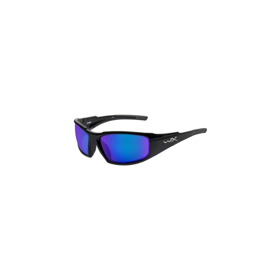 b485133c1bb Wiley X Rush Active Polarized Sunglasses Blue Mirror on PopScreen