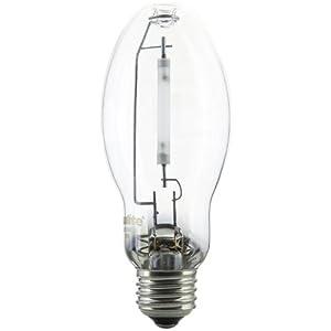 Sunlite 03605-SU LU50/MED 50 Watt HPS ED17 High Pressure Sodium Light Bulb, Medium Base, Clear