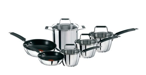 Buy T-Fal Avante 10-Piece Coated Stainless Steel Cookware Set