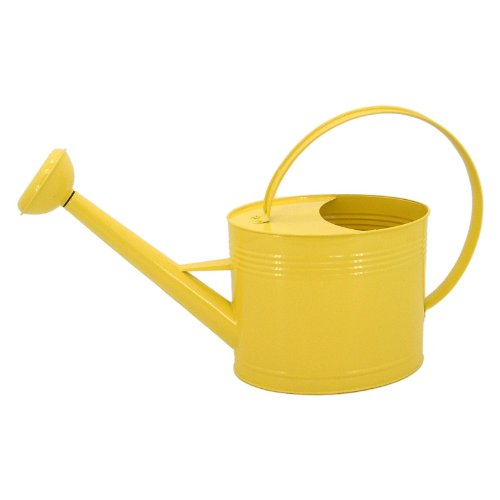 Tierra Garden 5050 Oval 2-Gallon Watering Can, Yellow