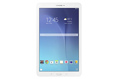"Samsung SM-T560NZWAITV Galaxy Tab e Tablet, Display da 9.6"", Processore da 1,3 GHz, RAM 1.5GB, HDD da 8GB, Wi-Fi, Bianco"