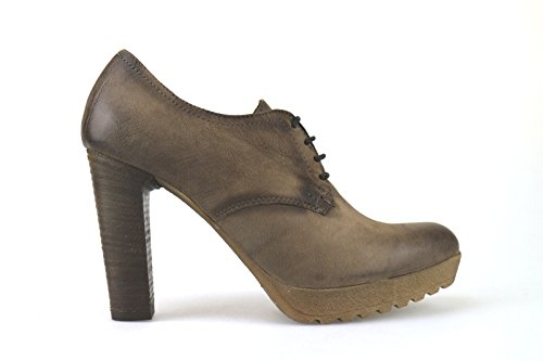 scarpe donna MANAS tronchetti marrone pelle AK893 (38 EU)