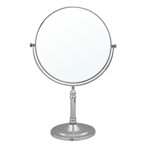 Modona Ctm01-A 8-Inch Two-Sided 1X And 5X Tabletop Vanity Mirror, Made Of Brass Polished Chrome front-303158
