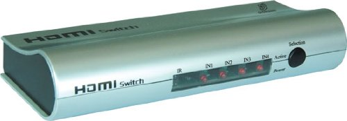 Gsi Ghdmiswr4 - High Definition Hdmi 4 Source Input And 1 Source Output Wireless Operated Switcher