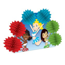 Cheerleading Pop-Over Centerpiece Party Accessory (1 count) (1/Pkg)