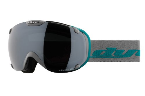 Dye Snow T1 Snow Goggle, GR Aquatic Print with Smoke Silver Polarized and HD Lenses