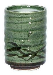 8 Oz Japanese Tea Cup Green Sasa Teacups