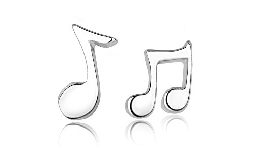 Sterling Silver Musical Notes Stud Earrings