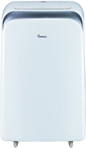 Impecca 12,000 BTU/h Heat&Cool Portable Air Conditioner with Electronic Controls 8.9 EER it has 3 Cooling Speeds and 3 Fan-Only Speeds, 2-Way Auto Swing, 24-Hour Timer, Dry Mode, and Auto Restart Includes a Remote control with PMTS