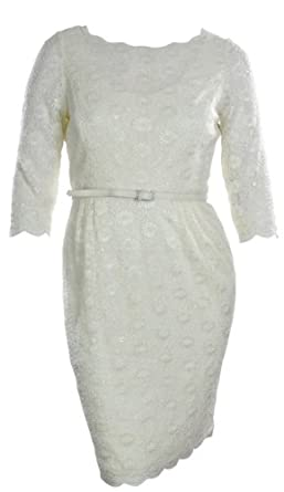 ALEX EVENINGS Lace Dress-IVORY-12