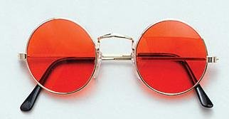 ORANGE HIPPY GLASSES JOHN LENNON SUNGLASSES