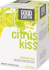 Citrus Kiss Green Tea Good Earth Teas 20 Bag