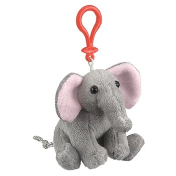 Elephant Plush Elephant Stuffed Animal Backpack Clip Toy Keychain WildLife Hanger - 1