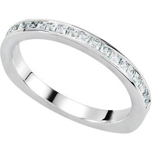Platinum 3-Stone Engagement Band: 1.5 mm