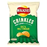 Walkers Crinkles Salt & Malt Vinegar Crisps 150g 150g