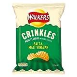 Walkers Crinkles Salt & Malt Vinegar Crisps 150g 150g