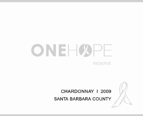 2009 Onehope Santa Barbara Reserve Chardonnay 750 Ml