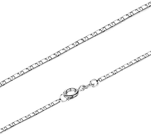 Womens Chain Necklace 18K White Gold Plated White Extendable 5cm Length 41cm by Aienid (Saw Costume Ideas)