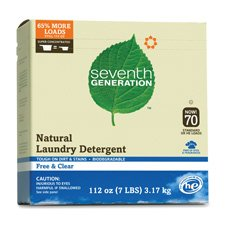 Seventh Generation Powder Laundry Concentrated, Free and Clear, 112-Ounce